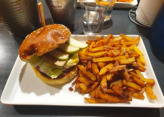 My burger à la une